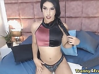 Beautiful Tranny Solo Masturbating shemale