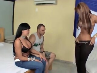Latina T-Girls And A Guy shemale ladyboy